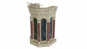 pulpit lectern furniture 3D