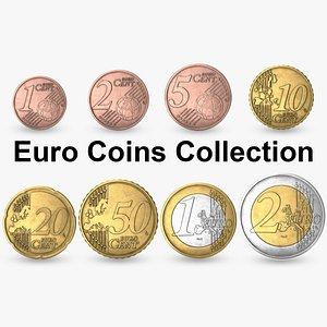 3D euro coin eur model