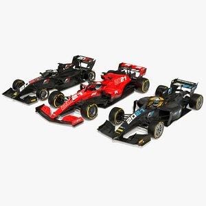 3D Formula 1 2 3 Season 2021 Race Car Collection model