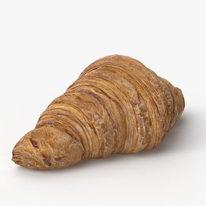 3D bread croissant