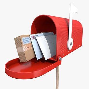3D mailbox post model