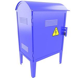 3D model Industrial Electrical Cabinet 3D Model 35