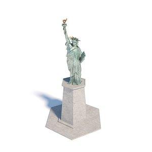 3D Statue of Liberty in Odaiba, Tokyo, Japan