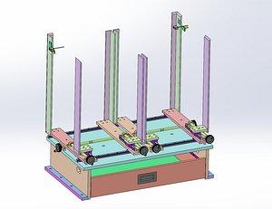 positioning screw mechanism 3D model