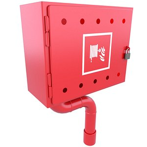 3D box emergency red