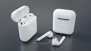 3D Apple Airpods 2 model