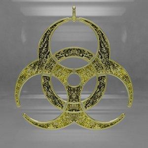 3D Biohazard Pendant