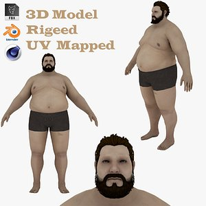 3D Fat Man 3D model model