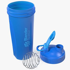 3D model BlenderBottle Classic Bottle Disassembled Cyan
