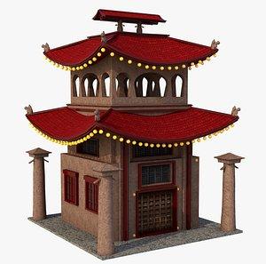 asia asian building 3D model