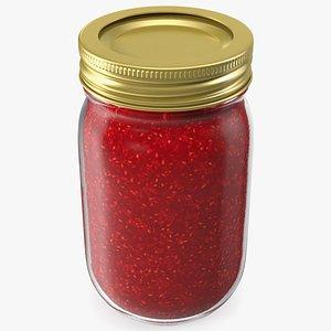 glass jar jam 3D model