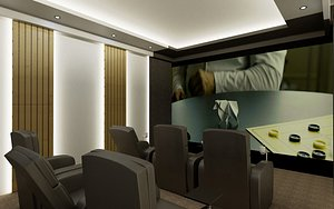 3D room home theater realistic