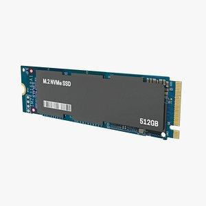 SSD M2 Hard Disk 3D model