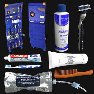 astronaut hygiene kit 3D model
