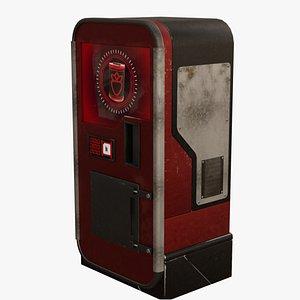 3D cyberpunk vending machine