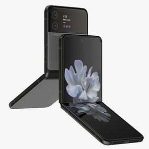 Samsung Galaxy Z Flip 3 Gray 3D