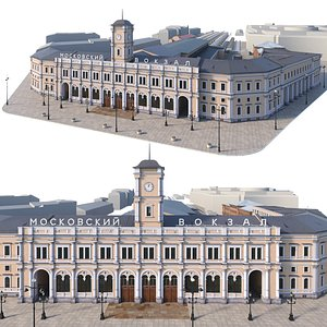 moscow station sankt architecture 3D model