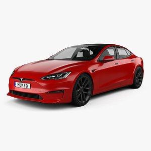 3D model Tesla Model S Plaid 2021