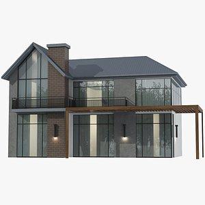 3D Modern House 02