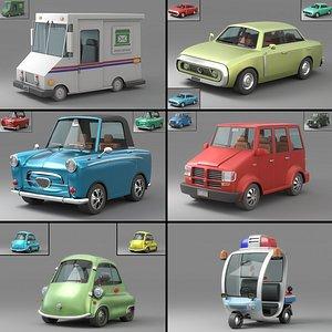 3D Cartoon Car Collection V4 model