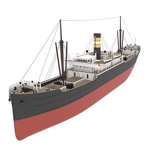 3D Steam Ship model