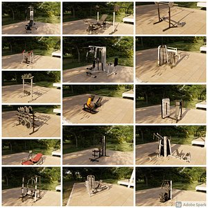 3D 51 gym equipment model