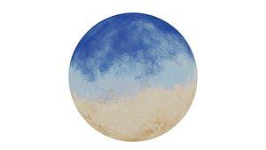 360 VR Panoramic Cartoon Painted Desert equirectangular Low-poly 3D model 3D model