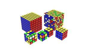 3D model Rubiks Cubes Collection