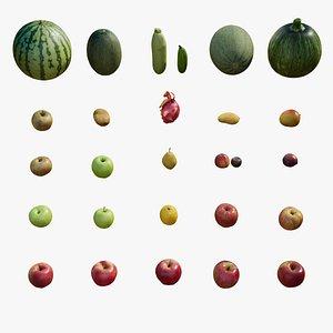 realistic fruit vegetable 3D model