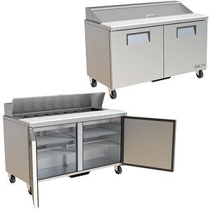 3D FOOD PREP TABLE TRUE TSSU SERIES TSSU-60-16-HC