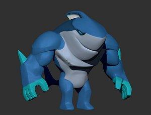 Ice Shark ZBrush ZTL Sculpt 3D model