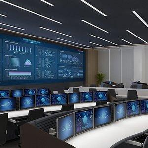 control room center 3D model