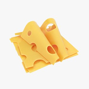 3D cheese slice
