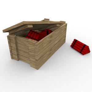 dynamites wooden box 3D