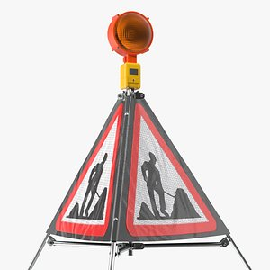 sided traffic sign road 3D