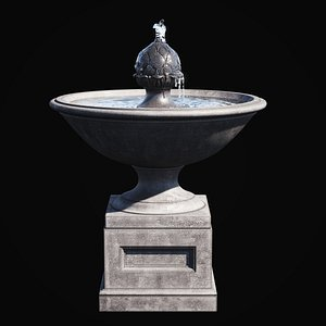 3D garden fountain williamsburg chiswell model