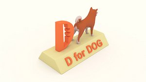 d dog 3D model