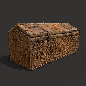 Medieval Carved Box 3D