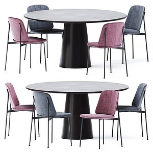 3D model Round Dining Table Conic by Cor