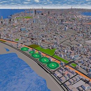 3D 2021 city