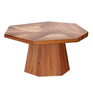 3D Bronx Blonde Yukas Geometric Dining Table model
