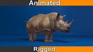 rhino rhinoceros beast 3D
