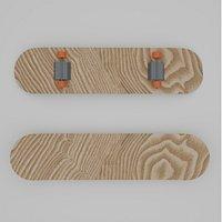 Skateboard lowpoly 3D model