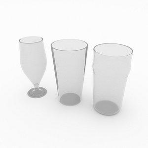 3D pint glass