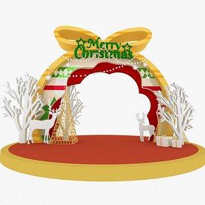 3D model Merry Cristmas - Decorative Entrance