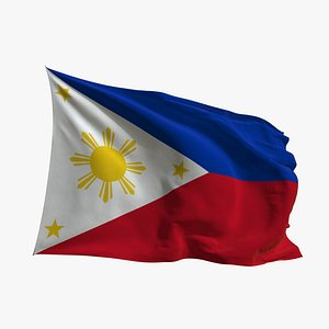 Realistic Animated Flag - Microtexture Rigged - Put your own texture - Def Philippines model