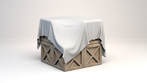Crates Covered by Sheet - 3D Asset 3D model