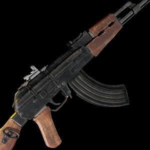 AK 47 model 3D model model