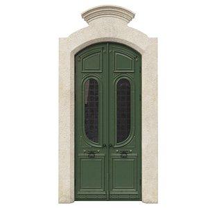 3D Entrance classic door 49 model