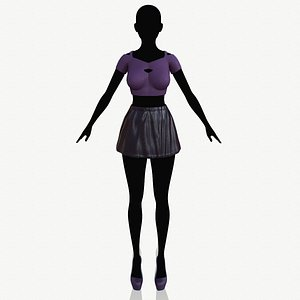 3D fashion clothing model
